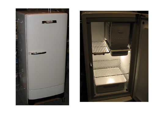 A 1950s Hotpoint Refrigerator I Purchased Few Years Back Worked Perfect And Had The Original Paint Job Almost 60 Old