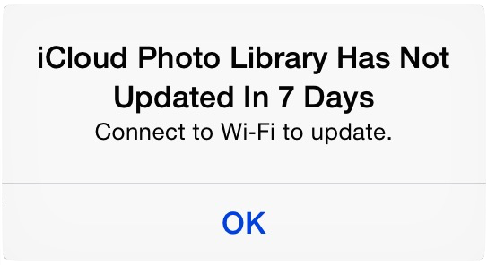 Icloud library not updating