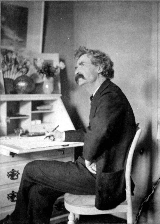 Mark Twain At A Writing Desk