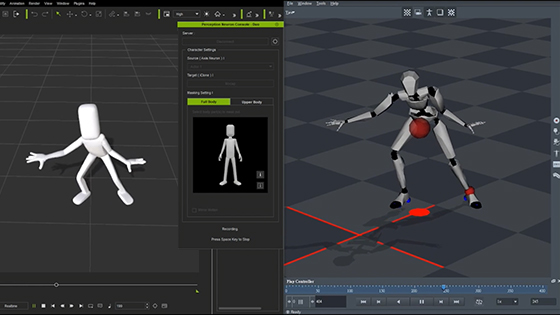 Live Motion tracking from Noitom's precision neuron suit.