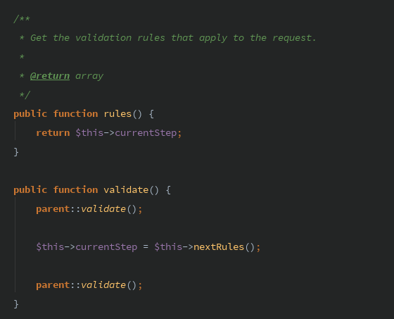 Chain validation with Form Requests — Laravel – Marco Aurélio ...