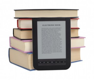 Instead of carrying heavy textbooks, many students are choosing to use ebooks, which they carry on a single device.