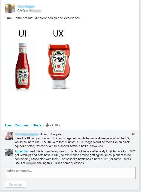 UX vs UI : The 'crusades' equivalent of the design world.