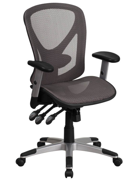 Mid Back Mesh Swivel Task Chair With Arms By Innovations Office Furniture  Product Description: