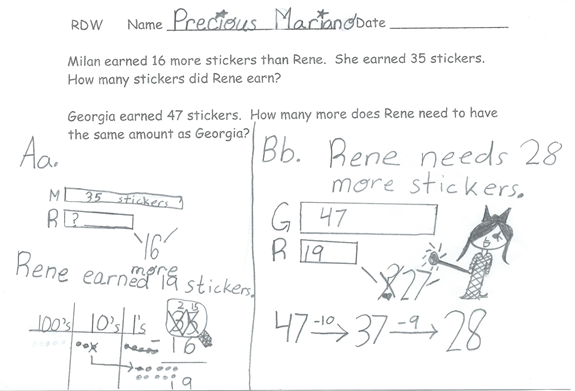 Draw a picture strategy for math problem solving