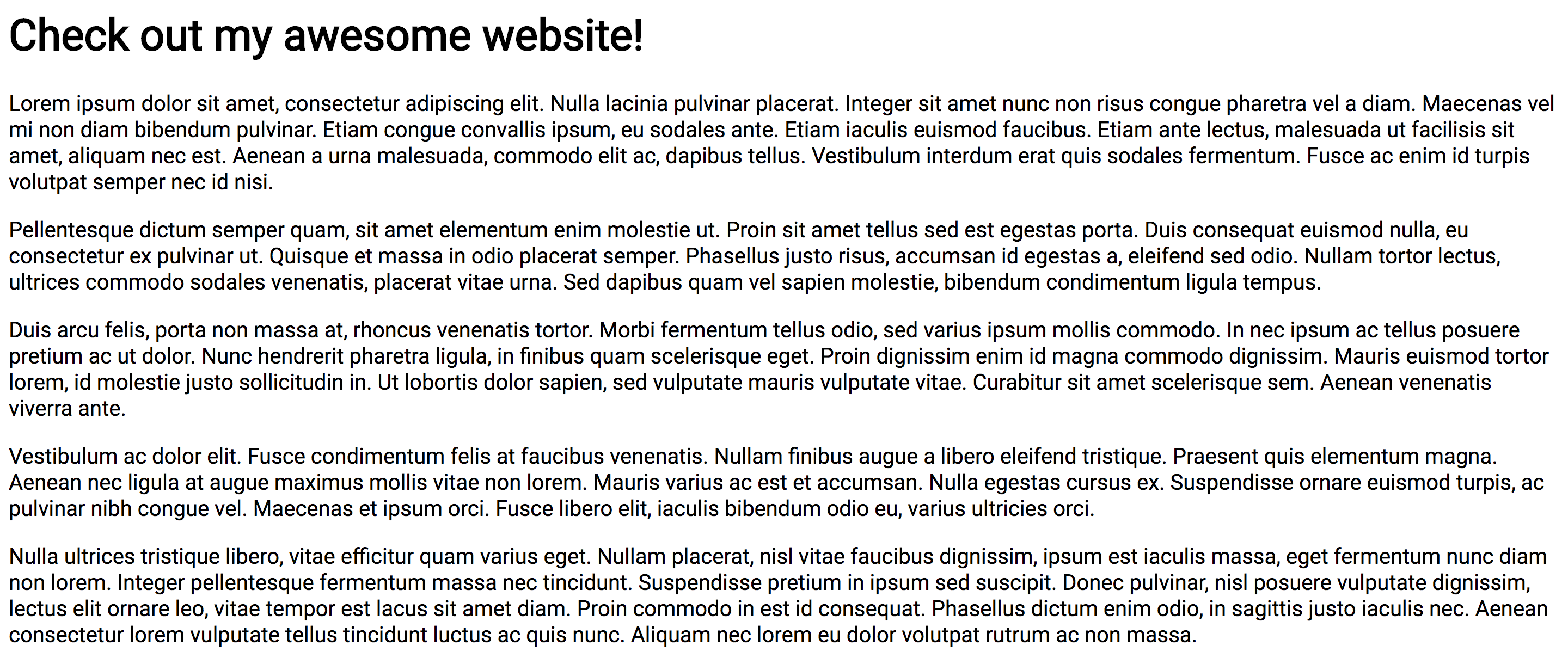 The example website using Roboto Font (designed by Google and linked from [Google Fonts](https://fonts.google.com/?selection.family=Roboto))