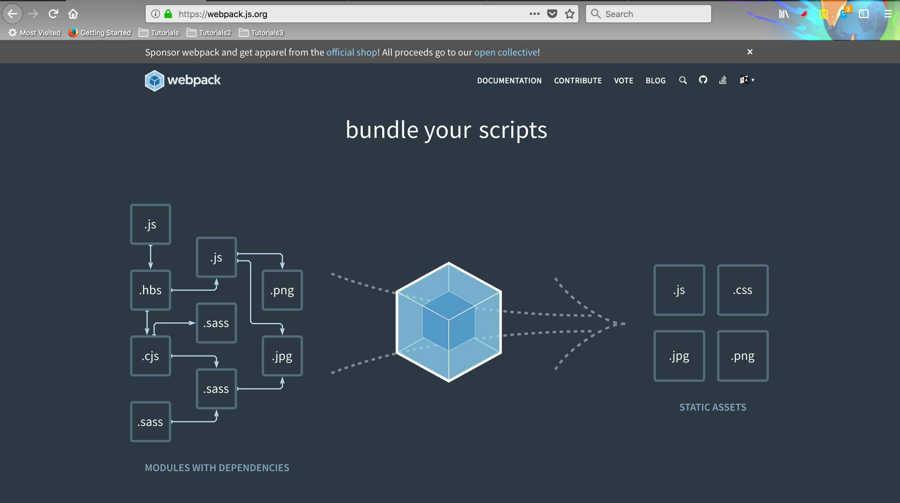 What webpack does?
