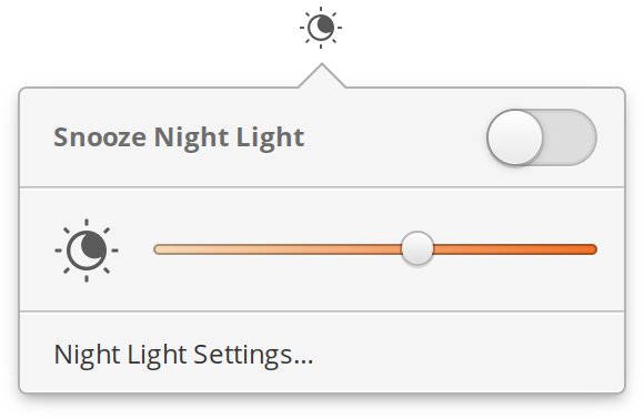 Night Light indicator