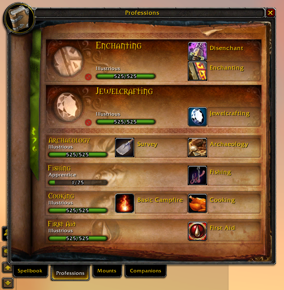 best wow professions for each class wow player guides medium