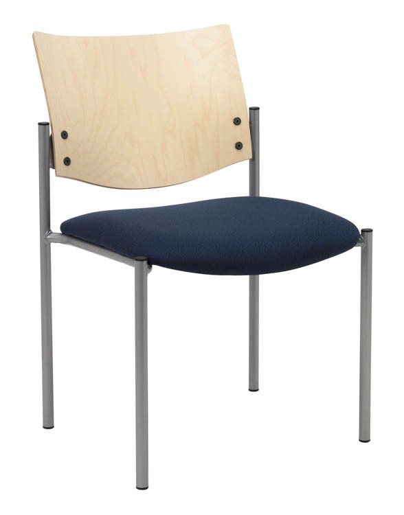 Side / Guest Chair, Armless With Wood Back By KFI Seating Product  Description:
