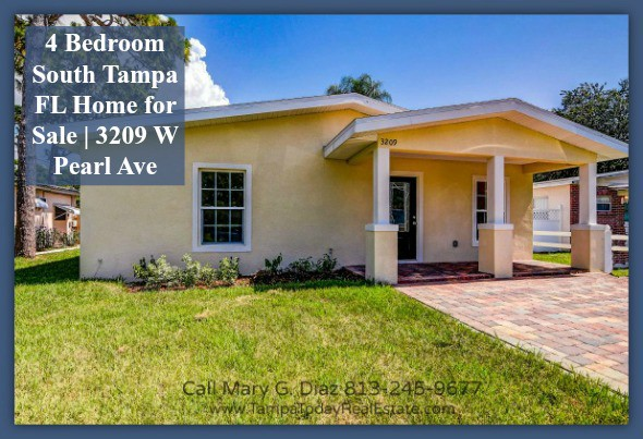 4 Bedroom South Tampa Fl Home For Sale 3209 W Pearl Ave
