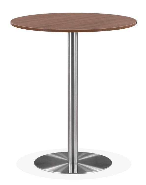 Review Round Cafe Height Table With Brushed Aluminum Base By - Brushed aluminum table base