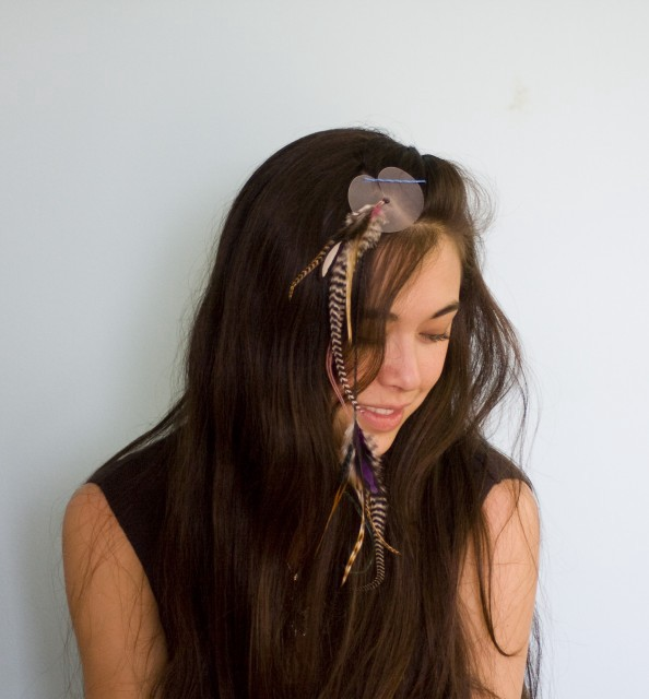 Give Yourself Feather Hair Extensions The Hairpin Medium