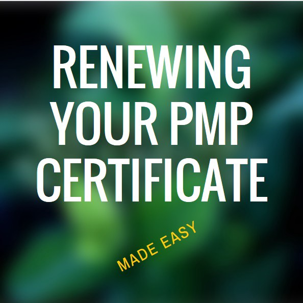 How I Renewed My Pmp Certification Basicdrop Medium