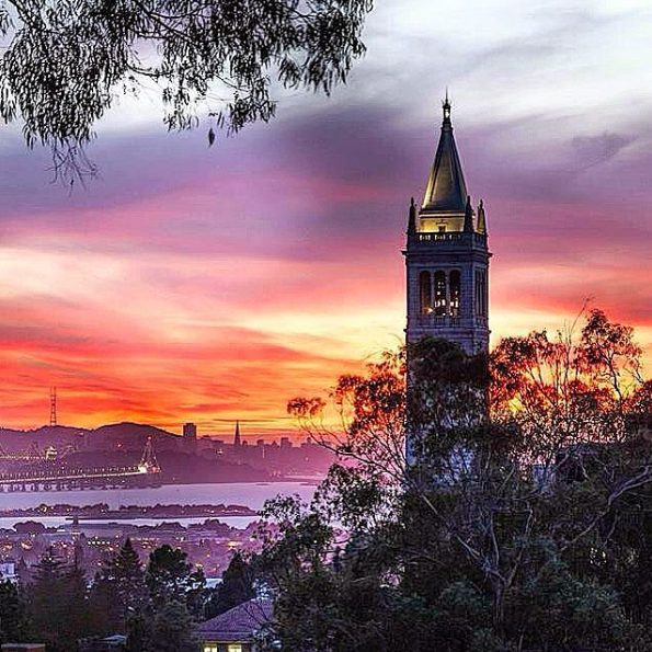 let s take a moment to realize how epic berkeley sunsets are