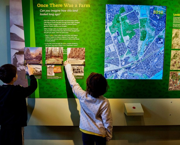 Interactive map at Silver Lake Nature Center in Bristol, Pennsylvania