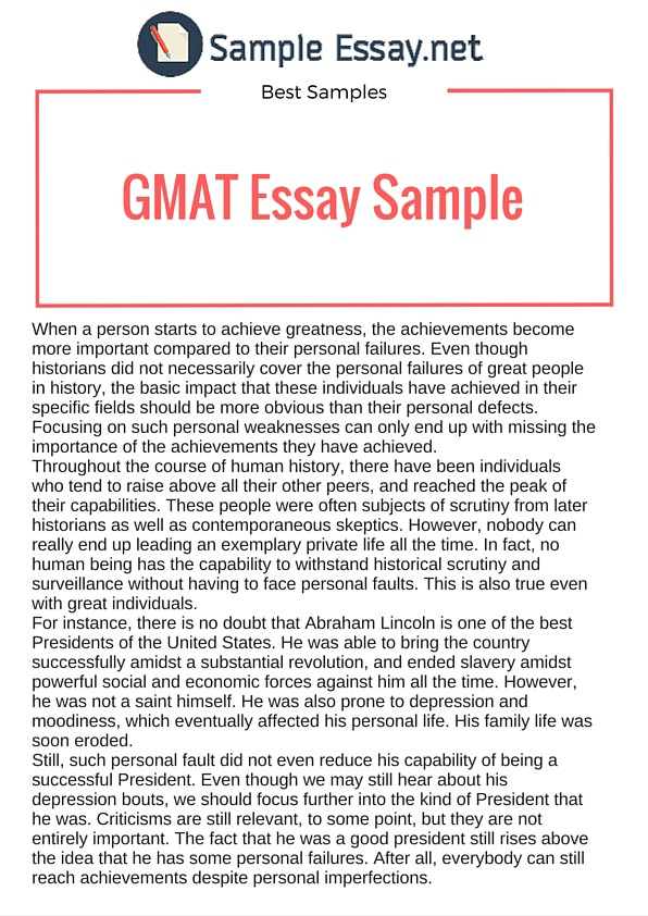 Gmat essay examples sample essay medium