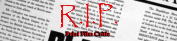 The Death of the Print Critic