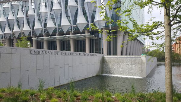 The Lake And Gardens Are An Integral Part Of The New Embassy, Being Not  Just Decorative And Thanks To Water Reclamation, Environmental, But Also  Part Of The ...