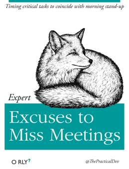 expertexcusestomissmeetings