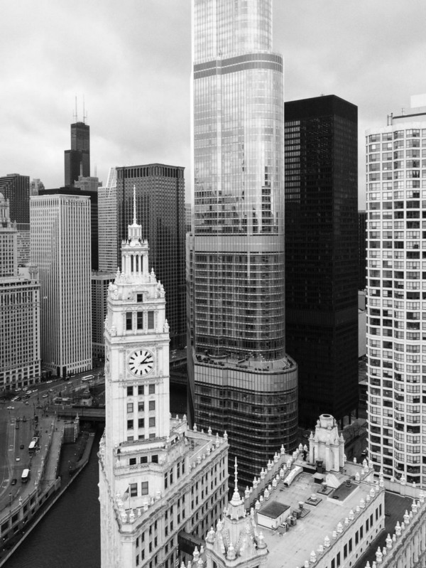 View from Chicago Tribune Tower, 3:08 PM, 2014