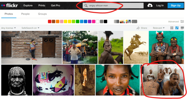Flickr search showing a cultural appropriation problem that is not very well known