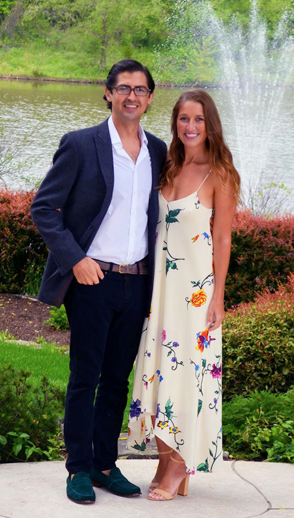 Cyrus Roepers and his fiance Heather Rodgers