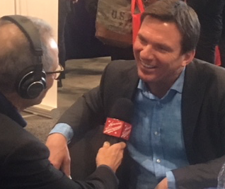 Steve interviewing a smiling Bill Weir