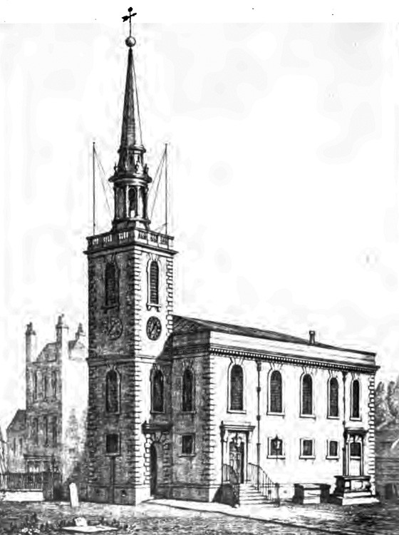 St Mary's, Rotherhithe, c1740