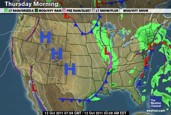 How To Read This Mornings Weather Map – Weather Channel Travel Map