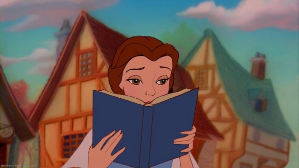 Belle and Book in Beauty and the Beast