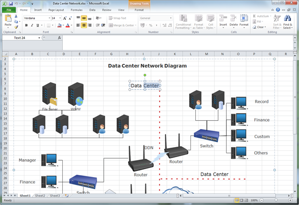 Create network diagram for excel olivia camp medium edraw is working well not only on windows but also on mac os x and linux systems ccuart Images