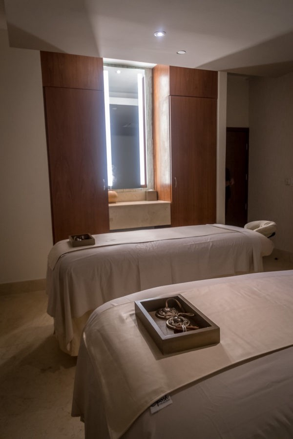 A couples massage room