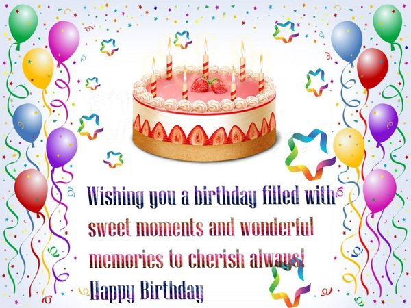 Famous Happy Birthday SMS Wishes Name Birthday Cakes Medium