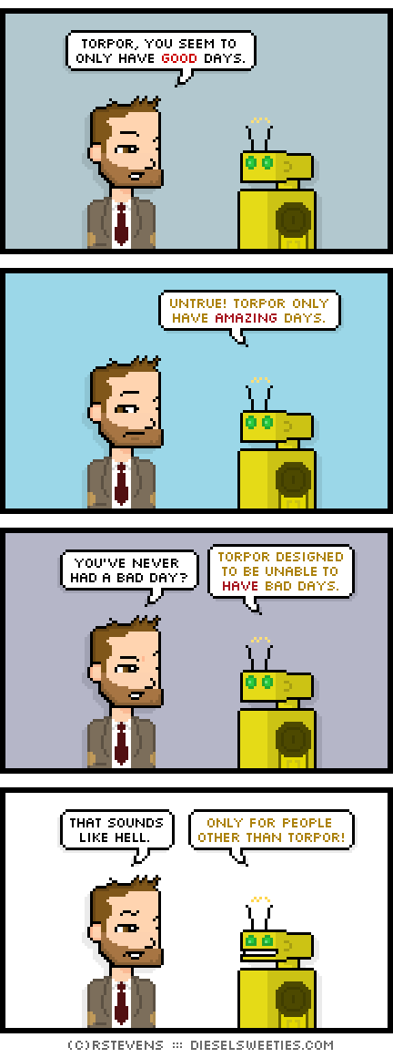 Tonight's comic is about positive people