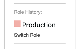 Role history: production