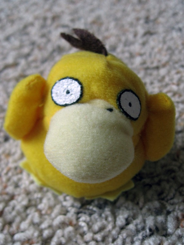 A cuddly [Psyduck](http://www.dorkly.com/post/76403/15-reasons-why-psyduck-is-the-most-legendary-pokemon-of-all) from the 1998 launch of Pokemon Red/Blue. Picture by [Mrs Gemstone](https://www.flickr.com/photos/gemstone/), CC-BY-SA.