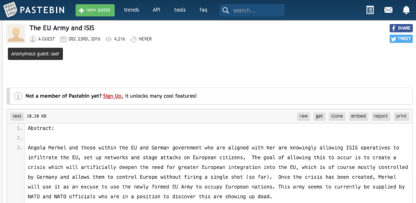 Spread it on Reddit: How a fake story about Angela Merkel