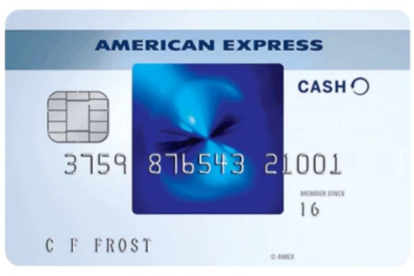 A front view of the American Express Blue Cash Everyday credit card.