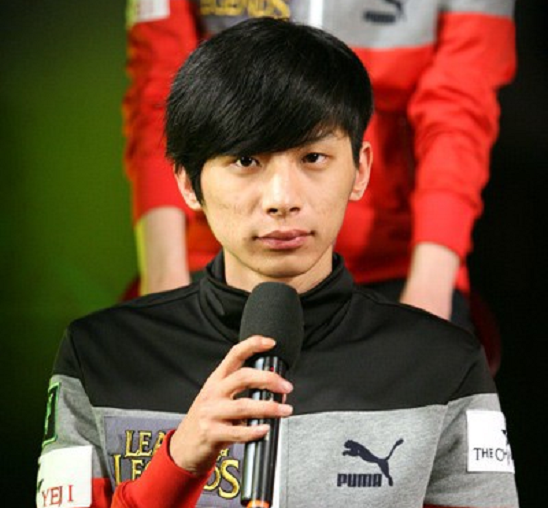 Being interviewed at the OGN studio after a win.