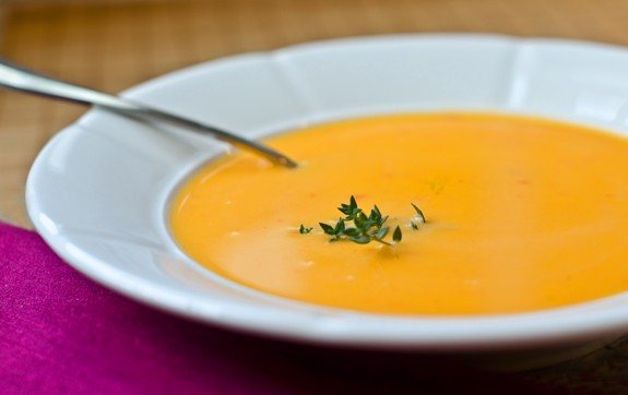 photo of butternut squash soup