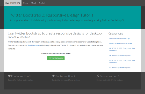 Bootstrap tutorial — A responsive design tutorial with Twitter ...