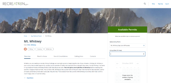 Climbing Mt. Whitney with web browser automation and R