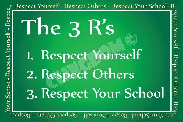 Image result for show respect your school