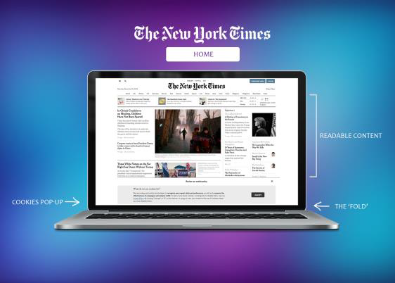 An anatomy of The New York Times Home Page and onscreen elements