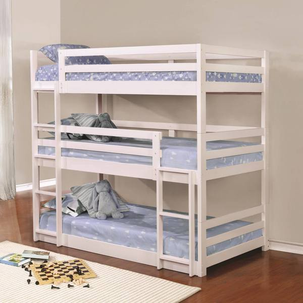 Triple The Fun Of Sleeping For Your Children With Triple Bunk Beds