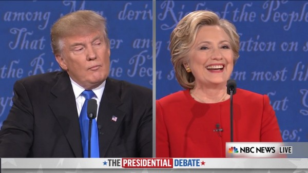 Hillary Clinton Zings Donald Trump for Saying Debate Microphone