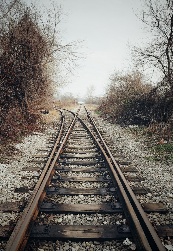 two railway lines separating