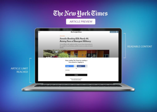 An anatomy of the NYT article preview and paywall