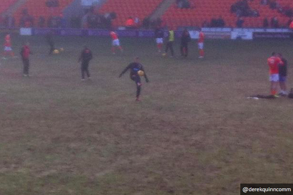 """In 2015 the Mirror asked [""""Professional football or Sunday league? Make up your own mind.""""](http://www.mirror.co.uk/sport/football/news/blackpool-slammed-over-dismal-state-5163690) Picture by @derekquinncomm."""
